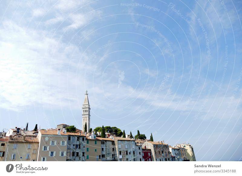 Rovinj Kroatien Menschenleer Kirche Dom Sehenswürdigkeit alt außergewöhnlich Altstadt Istrien Farbfoto Außenaufnahme Textfreiraum oben Tag