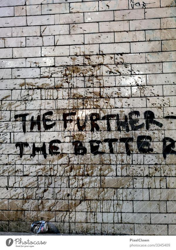 Graffitti Lifestyle Stil Design exotisch Freude Kunst Kultur Jugendkultur Subkultur zeichnen verrückt trashig Stadt schwarz Stimmung Farbfoto Außenaufnahme