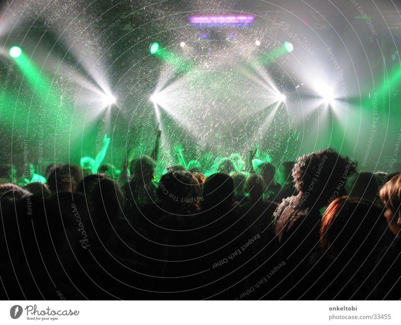 PartyCrew Part One Disco Lasershow Menschengruppe Musik Entwurf Partystimmung Freude Partygast