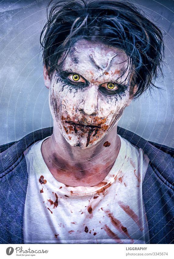 Halloween Make-up Alkohol Kosmetik Lippenstift Nachtleben Party Musik Mensch maskulin Kopf Haare & Frisuren Gesicht Auge 1 Aggression außergewöhnlich verrückt