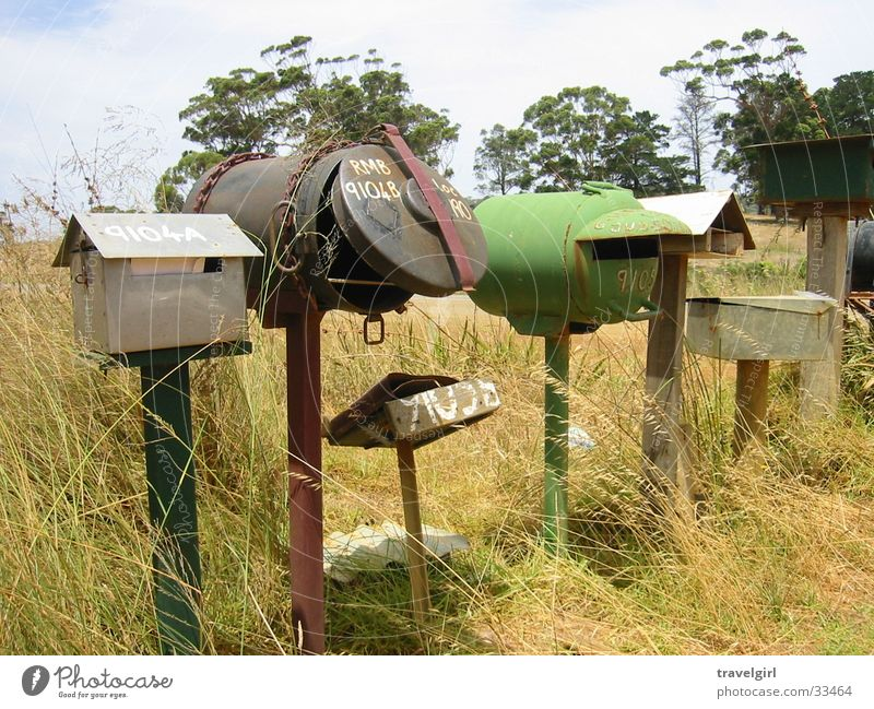 Outback Briefkasten Post Australien skurril Einsamkeit Natur Ferien & Urlaub & Reisen