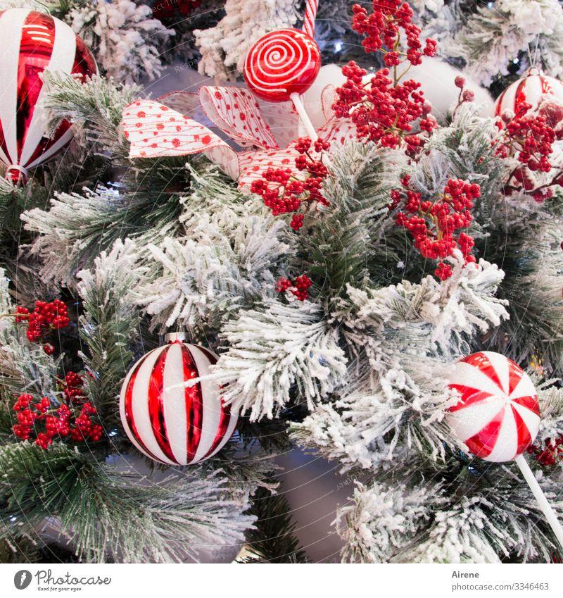 Eiszeit | kunst-voll Weihnachten & Advent schön Weihnachtsbaum Christbaumkugel Weihnachtsdekoration geschmückt verschönern rot weiß glänzend vollgestellt
