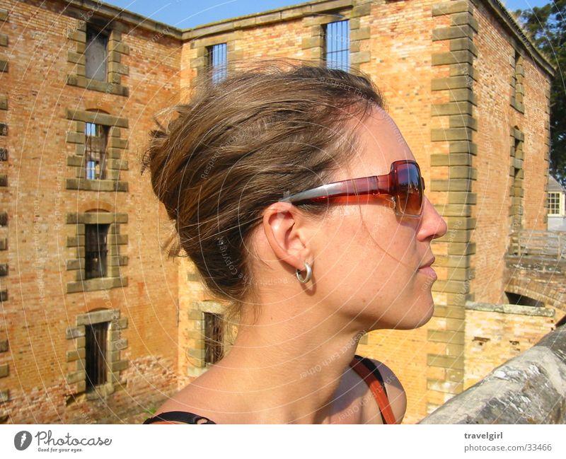 cool sunglasses Frau Ferien & Urlaub & Reisen Brille Ruine Sonnenbrille Australien Tasmanien