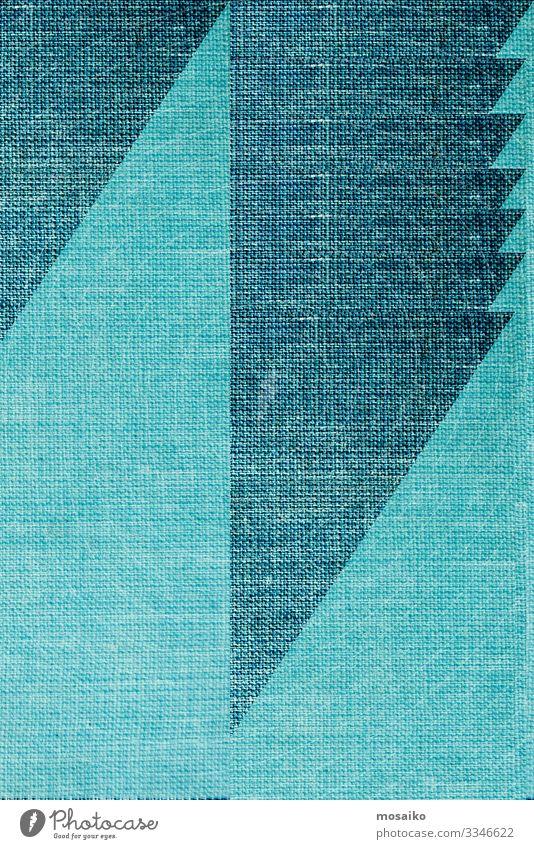 Geometrie auf Leinenoberfläche - Farbgestaltung Lifestyle elegant Stil Design Freude Freizeit & Hobby Dekoration & Verzierung Kunst Mode Stoff Linie Streifen