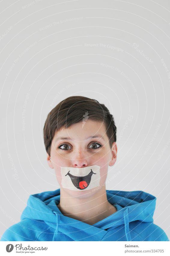ein lächeln am morgen Mensch feminin Junge Frau Jugendliche Kopf Gesicht Auge Ohr Nase Mund 1 18-30 Jahre Erwachsene Pullover brünett kurzhaarig Lächeln Blick