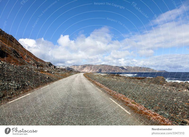 Unterwegs im Norden Europas Ferien & Urlaub & Reisen Tourismus Abenteuer Ferne Freiheit Natur Landschaft Urelemente Wasser Himmel Wolken Schönes Wetter Felsen