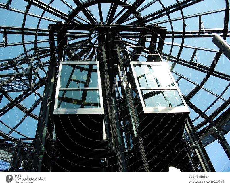 lift Fahrstuhl Sonnenlicht Elektrisches Gerät Technik & Technologie Glas Metall Himmel