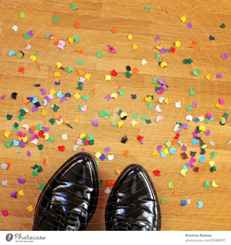 party Freude Dekoration & Verzierung Party Veranstaltung ausgehen Feste & Feiern clubbing Tanzen Karneval Silvester u. Neujahr Geburtstag Fuß 1 Mensch Schuhe