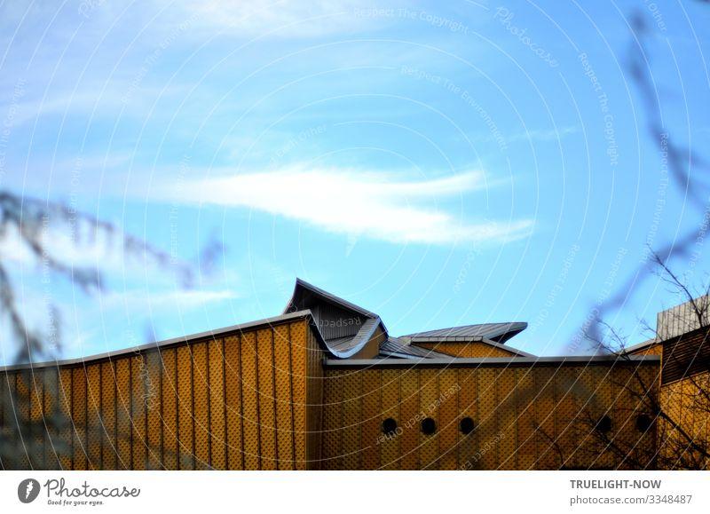 Himmelblau und schmutzig Gelb Ferien & Urlaub & Reisen Architektur Berlin Stil Gebäude Tourismus Design Musik elegant Kultur ästhetisch Kreativität genießen