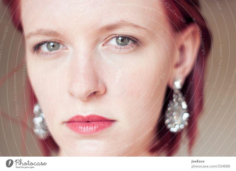 #334888 Frau Jugendliche schön 18-30 Jahre Gesicht Erwachsene kalt Leben Gefühle Stimmung Kraft Zufriedenheit beobachten einzigartig Neugier trendy