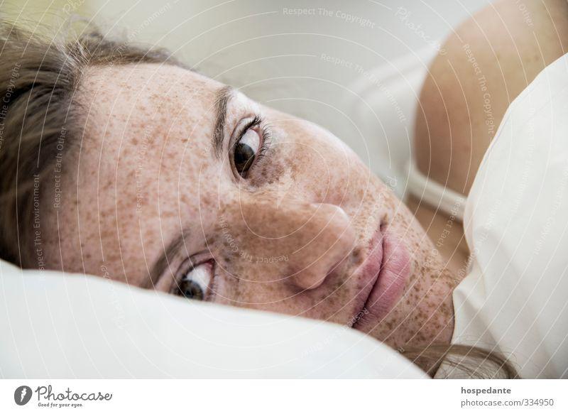 Mensch Frau Jugendliche schön Sommer Sonne Erholung Freude Junge Frau Erwachsene Gesicht Auge 18-30 Jahre Leben Erotik Gesundheit