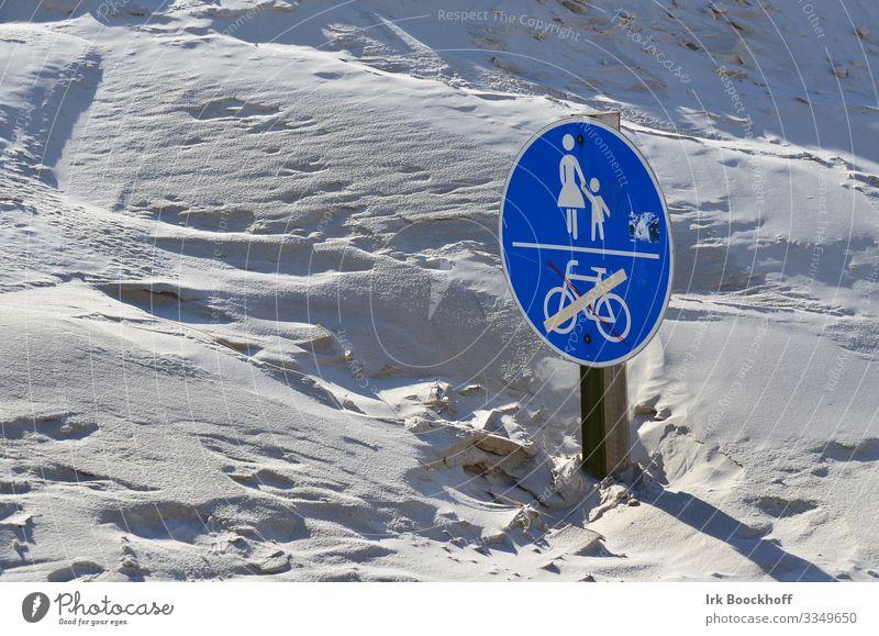 versandeter Fußweg in den Dünen vom Wind zugeweht Ferien & Urlaub & Reisen Tourismus Ausflug Strand Meer Insel Fahrradfahren wandern Natur Sand Nordsee