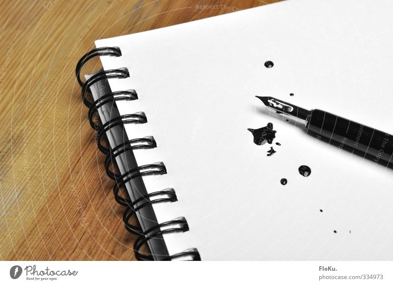 Scheiß auf E-Mail! weiß schwarz Freizeit & Hobby dreckig Schriftzeichen lernen Papier einzigartig retro schreiben Schreibstift Prüfung & Examen Zettel