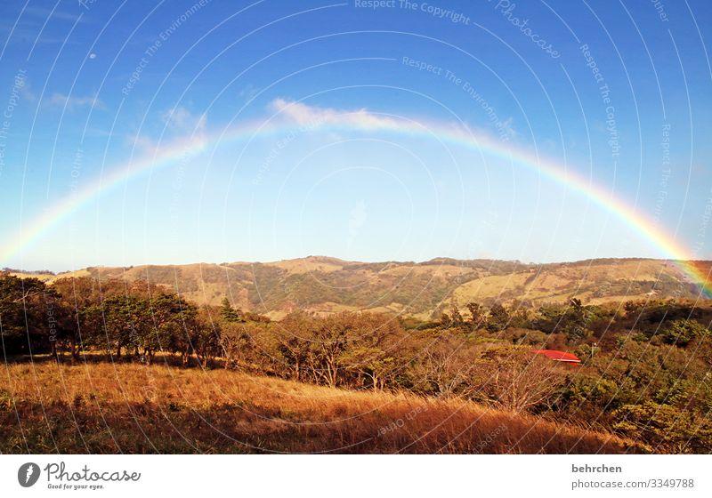 und am ende wartet das glück Farbfoto Einsamkeit Idylle Ruhe Landschaft Landwirtschaft wandern Himmel Feld Berge u. Gebirge Wege & Pfade Umwelt Natur