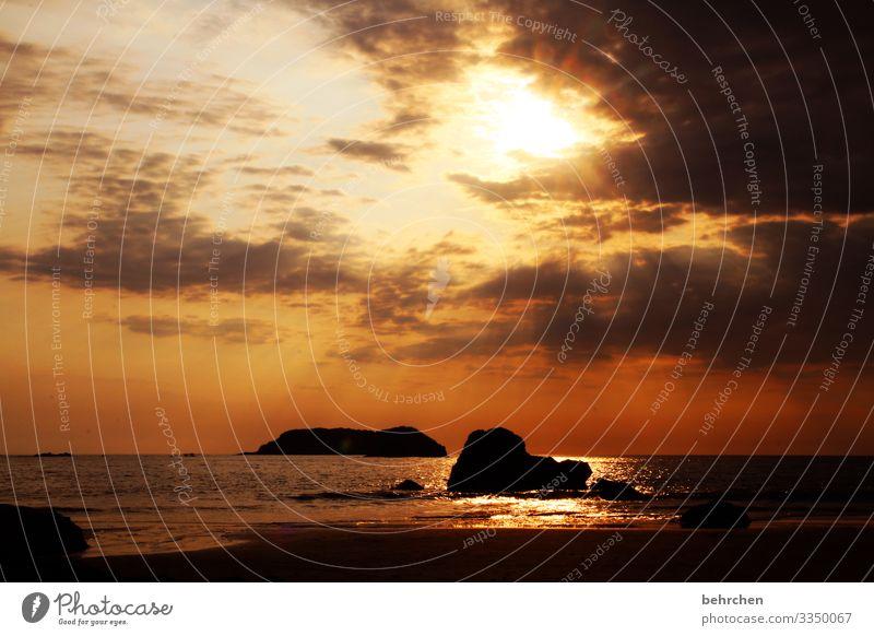 ein SONN(En)tag klingt aus Gegenlicht Sonnenuntergang Sonnenaufgang Sonnenstrahlen Sonnenlicht Dämmerung Menschenleer Außenaufnahme Farbfoto Fernweh magisch