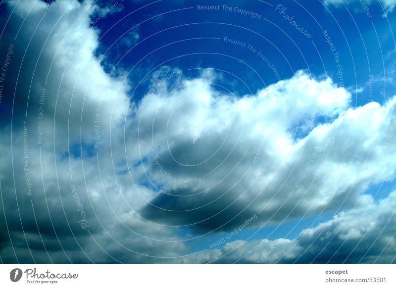 Himmel Himmel blau Wolken Wetter