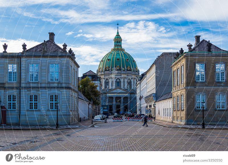 Frederikskirche in der Stadt Kopenhagen, Dänemark Ferien & Urlaub & Reisen Tourismus Haus Wolken Gebäude Architektur Sehenswürdigkeit historisch