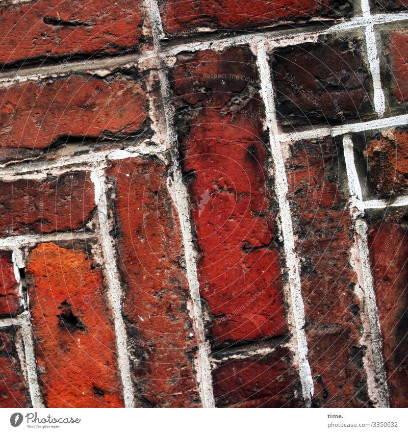 kreativ den Hof gemacht straße riss kaputt abgenutzt alt historisch belastung Vogelperspektive Phantasielandschaft Inspiration backstein weg fugen brandstein
