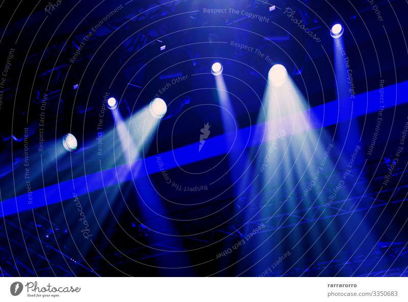 Bühnenbeleuchtung während einer Veranstaltung. Design Freude Dekoration & Verzierung Lampe Nachtleben Entertainment Musik Club Disco Feste & Feiern Theater
