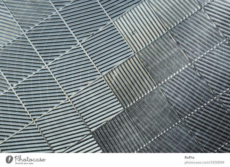 Abstraktes Wandmuster aus Metall. Lifestyle Stil Design Häusliches Leben Innenarchitektur Wissenschaften Arbeit & Erwerbstätigkeit Beruf Arbeitsplatz Fabrik