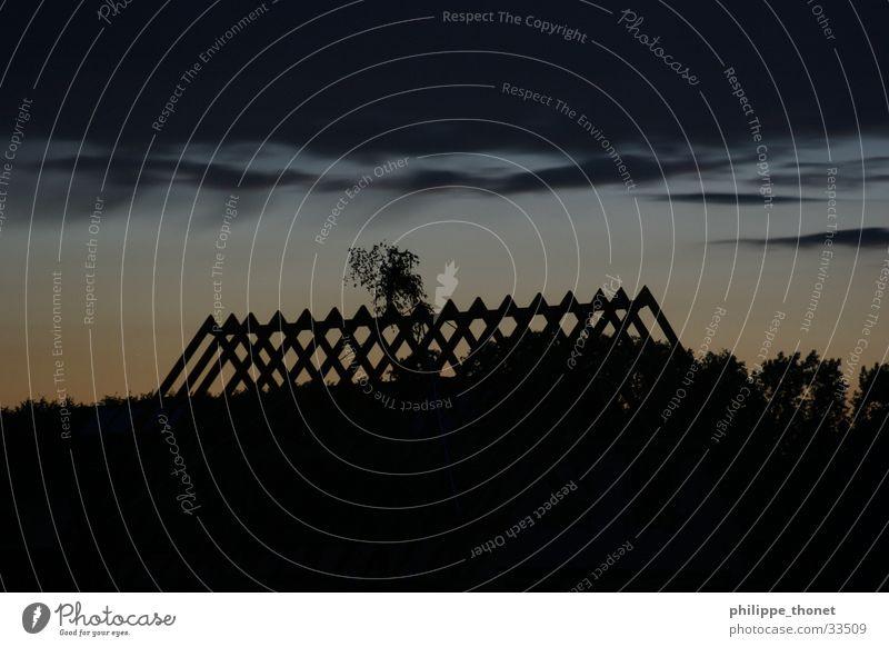 Richtfest Himmel Haus Wolken Gebäude Architektur Dach