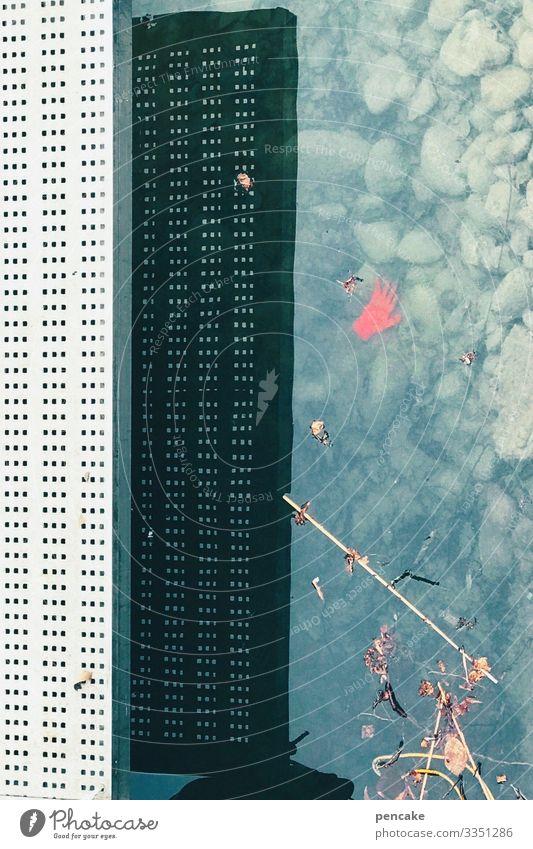rothändle Natur Wasser Winter Pflanze Seeufer Handschuhe außergewöhnlich Kran Hochhaus Schatten Täuschung Bilderrätsel lustig Kriminalroman Hafen Farbfoto
