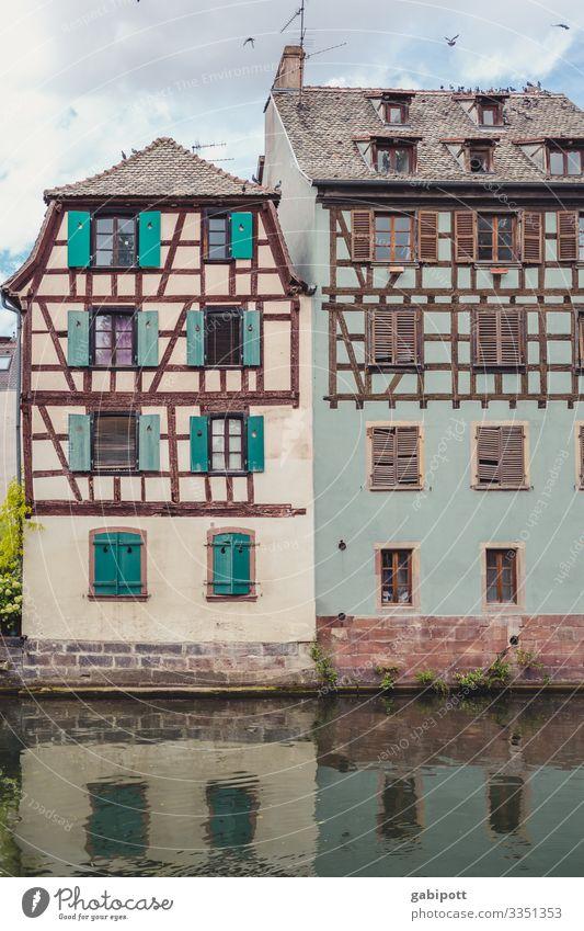 Städtetrip Strasbourg 5/5 Ferien & Urlaub & Reisen Tourismus Städtereise Straßburg Frankreich Europa Stadtzentrum Altstadt Haus Fassade Fenster alt