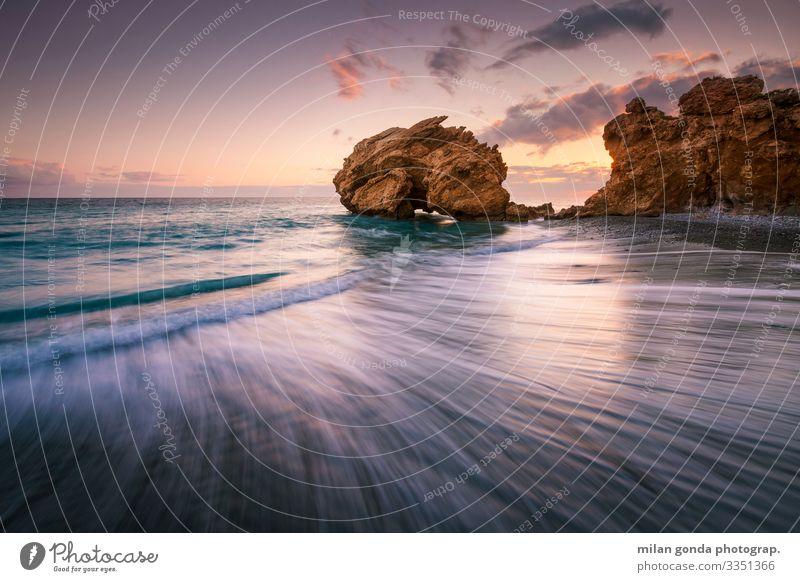 Natur Meer Strand Küste Stimmung Europa Griechenland Felsbogen Heraklion