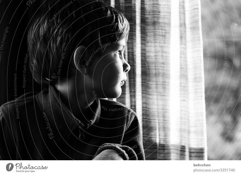 sehnsucht Kind Junge Familie & Verwandtschaft Kindheit Haut Kopf Haare & Frisuren Gesicht Auge Ohr Nase Mund Lippen 3-8 Jahre schön Neugier niedlich Hoffnung