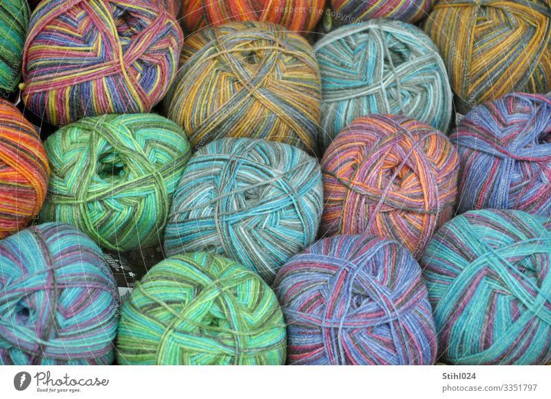 bunte Wollknäuel blau grün Mode orange rosa Freizeit & Hobby Ordnung kaufen Schnur Nähgarn Wolle sortieren Bündel stricken Farbverlauf häkeln