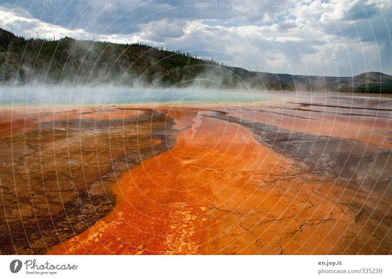 dangerous beauty Natur Ferien & Urlaub & Reisen Wasser Baum Landschaft Wolken Umwelt außergewöhnlich orange Tourismus gefährlich Urelemente bedrohlich