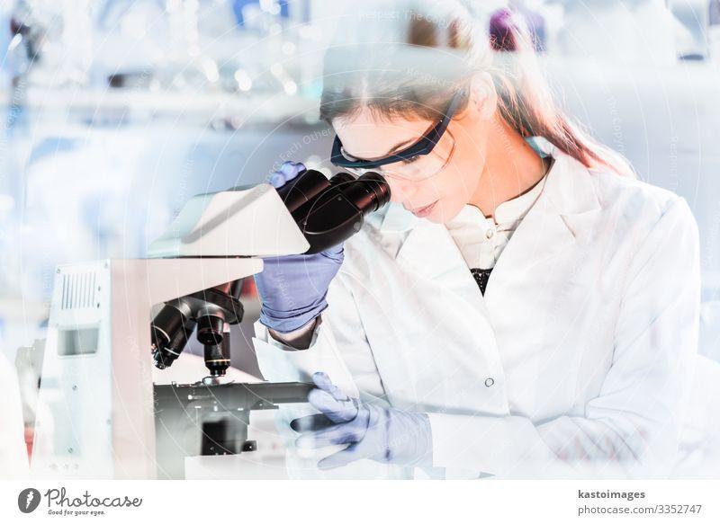 Weibliche Gesundheitsforscherinnen, die in einem wissenschaftlichen Labor arbeiten. Gesundheitswesen Medikament Wissenschaften Studium Prüfung & Examen