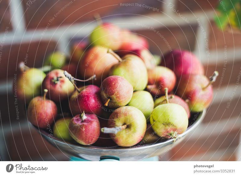 Mini-Apfelernte waagschale Ernte Erntedank Haufen