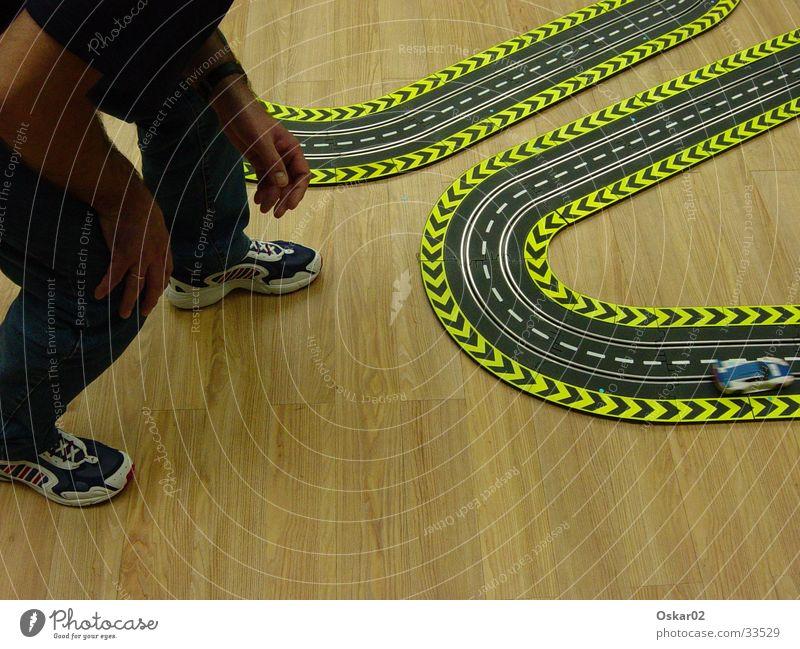 Carrera Mensch Mann Geschwindigkeit Leidenschaft Spielzeug Carrerabahn