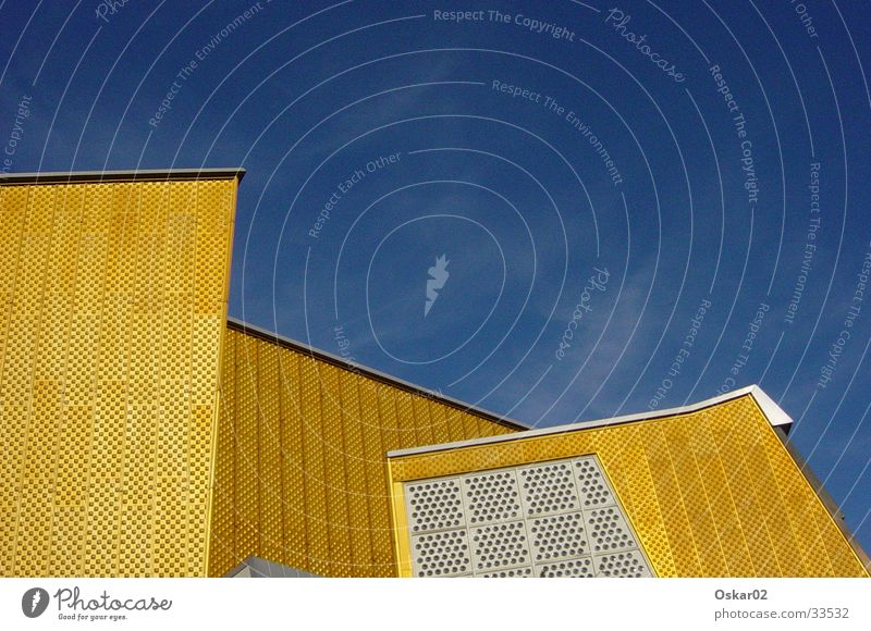 Philharmonie Berliner Philharmonie Gebäude Architektur Scharoun gold modern