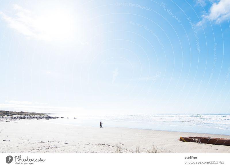 let's go to the beach Mensch Himmel Ferien & Urlaub & Reisen Natur Landschaft Sonne Meer Erholung Strand Küste Wellen Schönes Wetter Sandstrand Pazifik Oregon