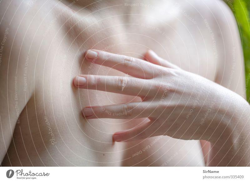 233 [touch] Mensch Jugendliche schön Hand nackt Erholung Junge Frau Erwachsene Erotik feminin Gefühle 18-30 Jahre natürlich Haut authentisch berühren