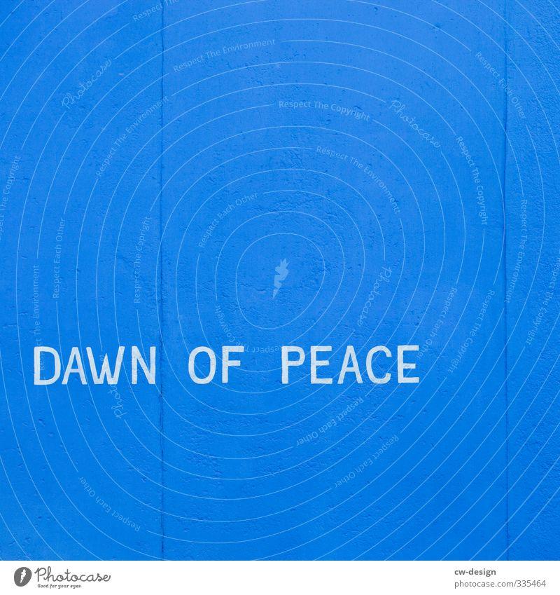HEUTE: Tag der Befreiung vom Faschismus blau weiß Graffiti Freiheit Kraft Erfolg Schilder & Markierungen Schriftzeichen Hinweisschild Macht Zeichen Frieden Mut