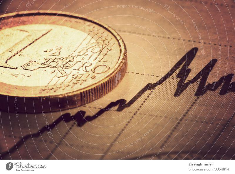 Euro Kapitalwirtschaft Börse Geldinstitut Armut positiv reich Optimismus sparsam Enttäuschung Hoffnung Handel Geldmünzen Zahlungsmittel Diagramm trendy Farbfoto
