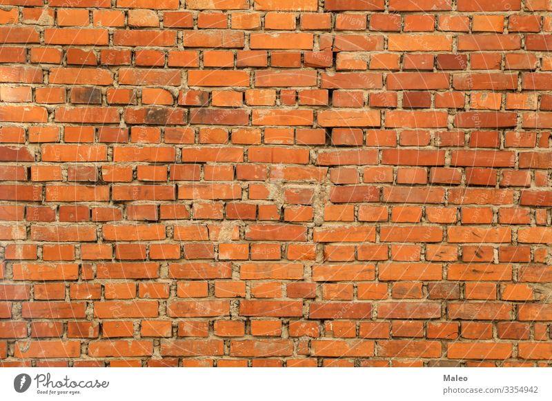 Alte Backsteinmauer Hintergrundbild Block alt Muster Strukturen & Formen Wand Gebäude Zement Beton rot Oberfläche Tapete Architektur Baustelle Mauer