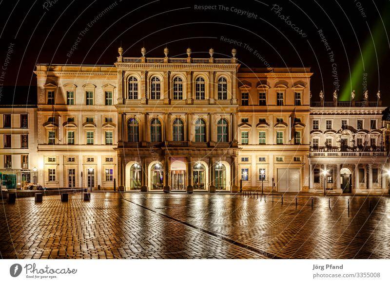 Nachtaufnahme von Museum Babarini in Potsdam Deutschland Eurpoa Stadt Hauptstadt Stadtzentrum Haus Bauwerk Gebäude Architektur Ferien & Urlaub & Reisen Farbfoto