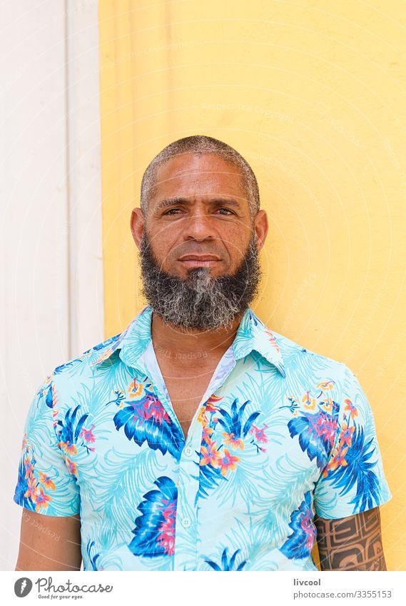 kubanische hipster III , havanna - kuba Lifestyle Glück Leben Insel Mensch maskulin Mann Erwachsene Männlicher Senior Haut Kopf Haare & Frisuren Gesicht Auge
