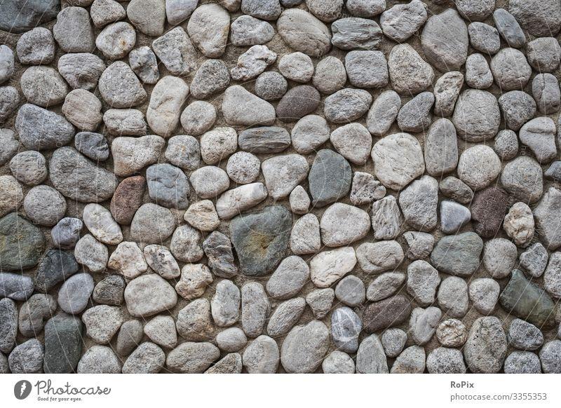 Findlingsmauerwerk Mauerwerk wall Findlinge Kiesel Kieselsteine Stein Naturstein Steinwand stone Wand Bauwerk Architektur Textur Struktur Haus Hauswand Stadt