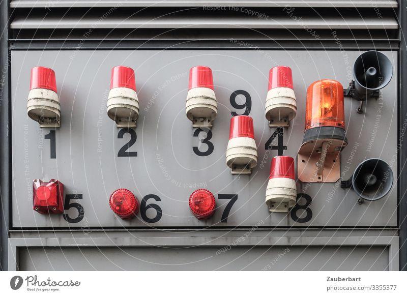 Alarm rot grau Angst Industrie Ziffern & Zahlen planen Sicherheit Stress Wachsamkeit hässlich diszipliniert