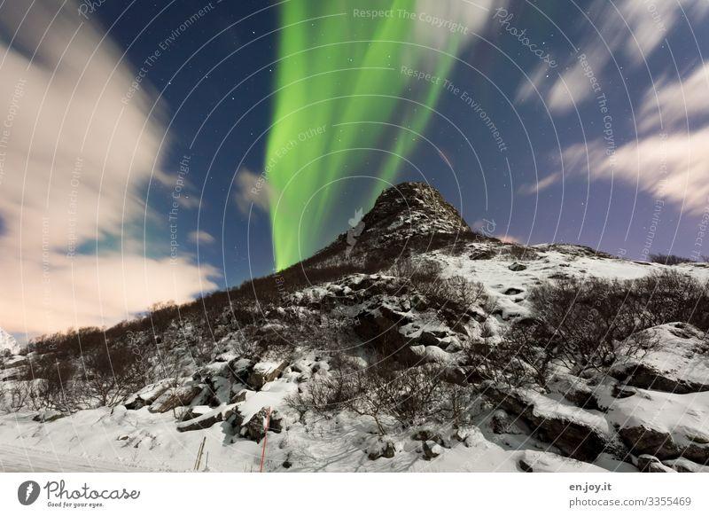 irgendwie | abgehoben Ferien & Urlaub & Reisen Winter Schnee Natur Landschaft Himmel Wolken Eis Frost Berge u. Gebirge Schneebedeckte Gipfel leuchten