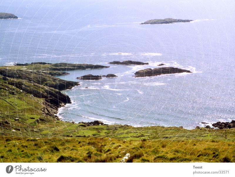 Irish Coast Wasser Meer Küste Felsen Bucht Republik Irland Gewässer steinig
