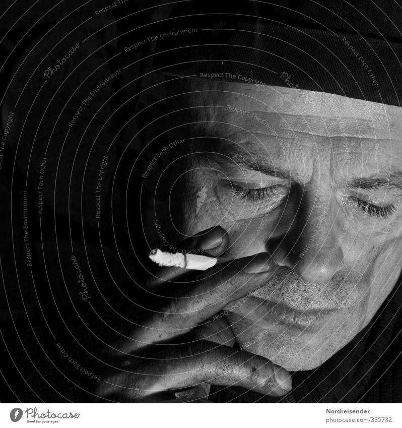 Docker Arbeit & Erwerbstätigkeit Fabrik Mensch maskulin Mann Erwachsene Leben Gesicht Hand Mütze dreckig dunkel kaputt Mut authentisch Rechtschaffenheit demütig