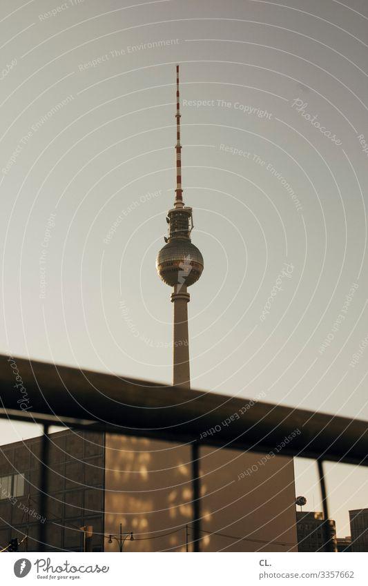 berlin Berlin Berliner Fernsehturm Alexanderplatz Architektur Turm Wahrzeichen Hauptstadt Himmel Denkmal Berlin-Mitte Kugel Deutschland Tourismus