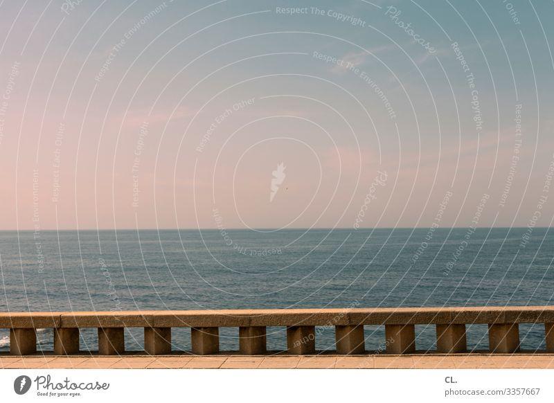 meer in sicht Aussicht Meer Wasser Himmel Blauer Himmel Panorama (Aussicht) Ferien & Urlaub & Reisen Schönes Wetter Menschenleer Farbfoto Tag Außenaufnahme