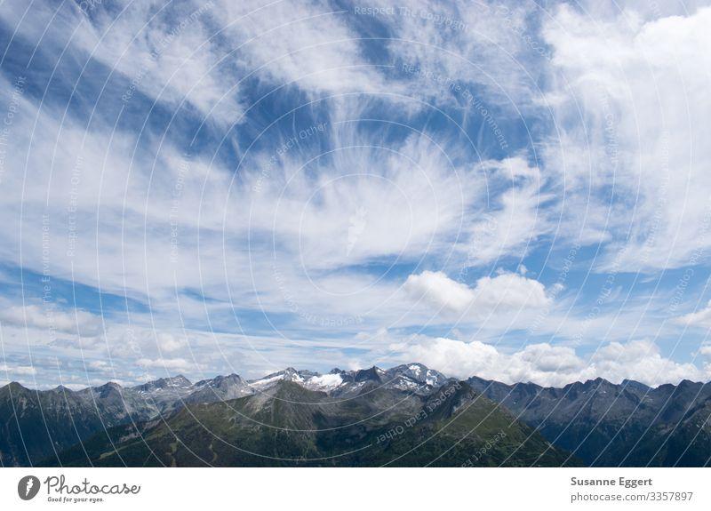 Blick von der Schlossalm ruhig Ferien & Urlaub & Reisen Ferne Freiheit Sommer Schnee Berge u. Gebirge wandern Klettern Bergsteigen Umwelt Natur Landschaft